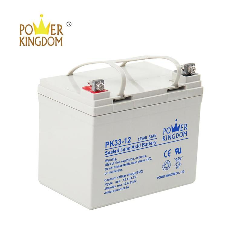 12V Middle size rechargeable agm battery for solar system 12v 33ah