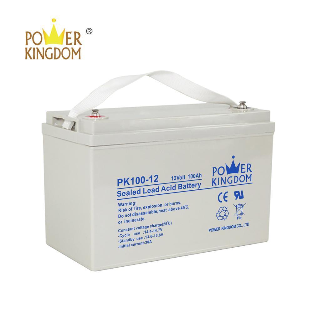 power kingdom battery 12v 100ah for solar system
