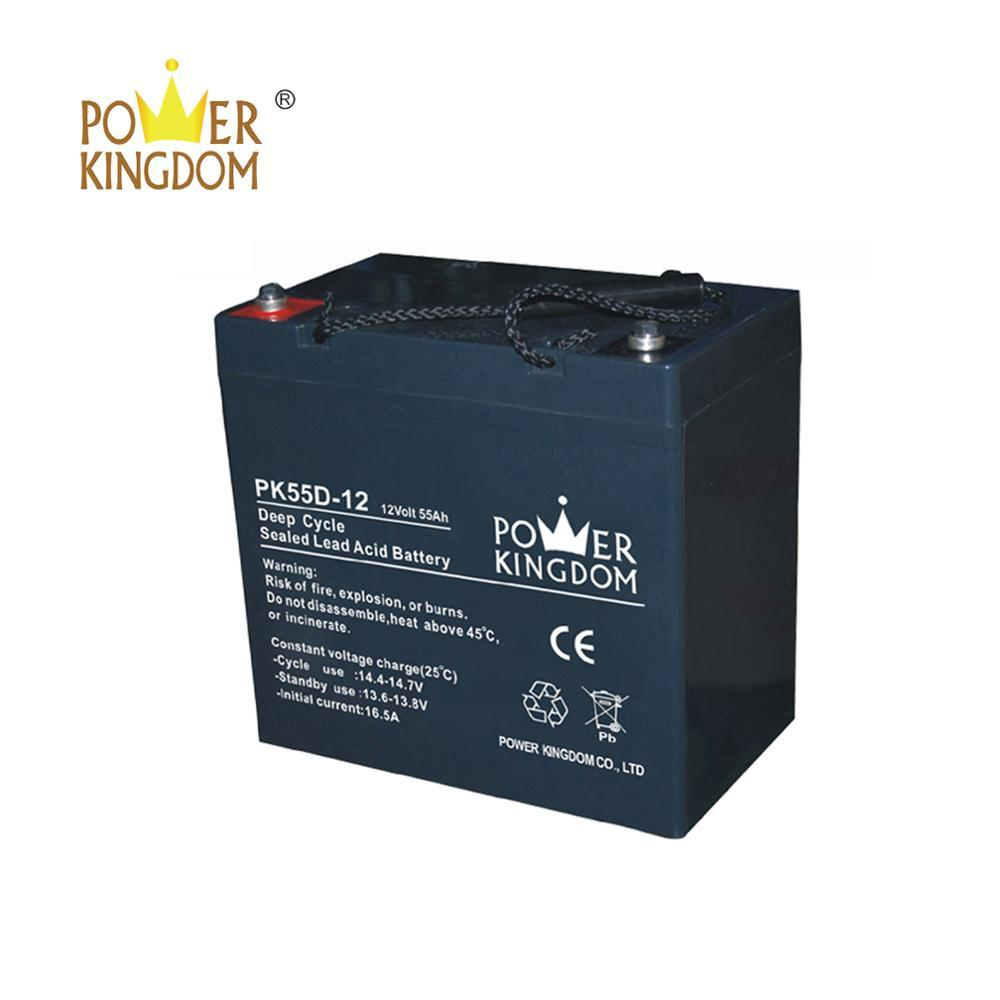 12v 55ah agm deep cycle golf cart battery