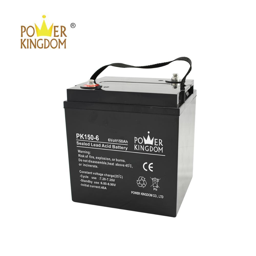 6V 150AH Lead Acid Deep Cycle Golf Cart Battery