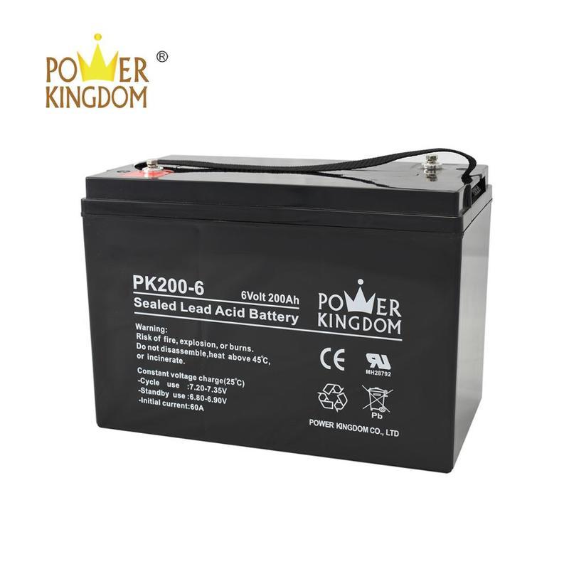 Long life deep rechargeable cycle battery 6v 200ah