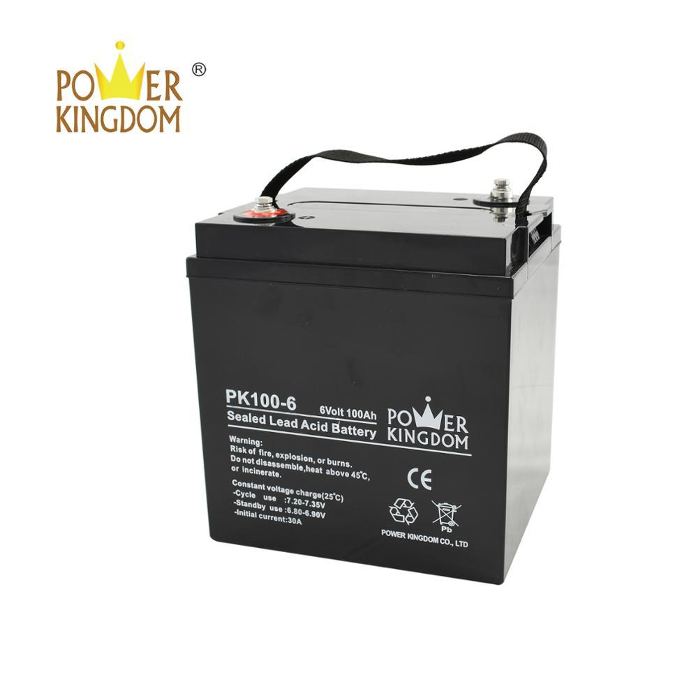 rechargeable battery 6v 100ah