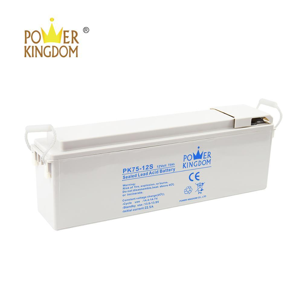 batteries 12v 75ah front terminal solar battery