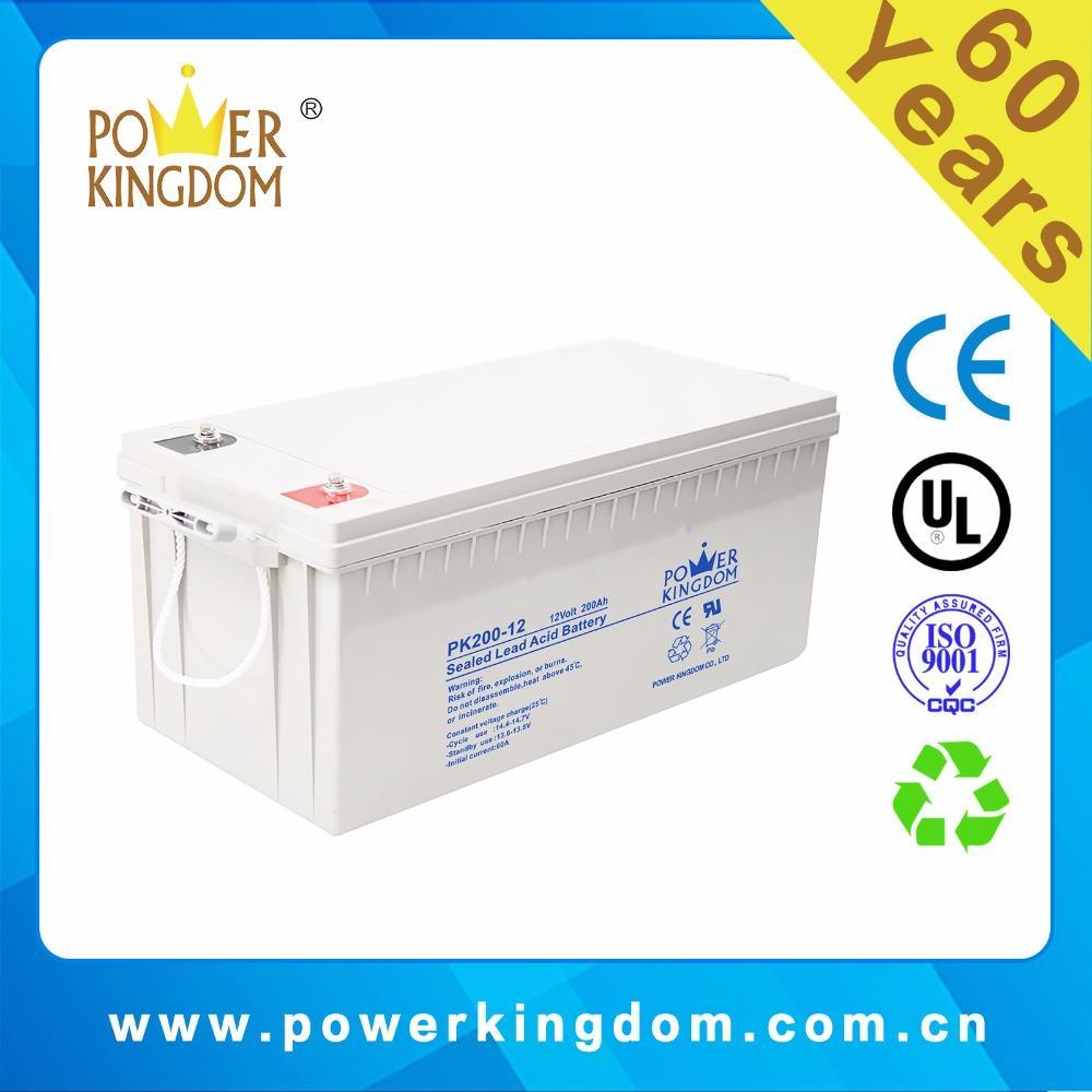 General Sealed MF 12v 200ah deep cycle agm battery,12v 200ah lead aicd battery,big solar battery