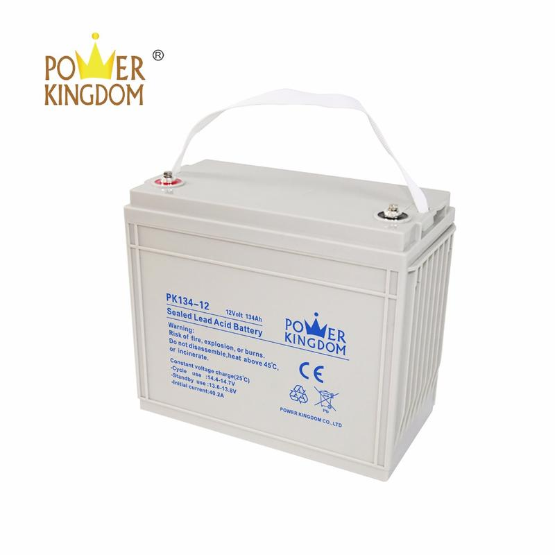 Deep cycle 12v 134ah 130ah rechargeable agm batteries