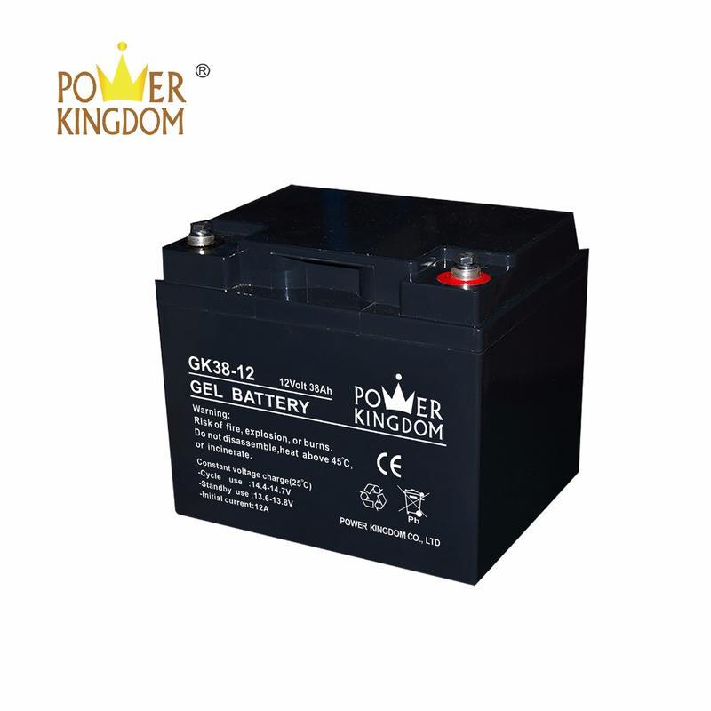 Storage UPS system solar gel battery 12v 38ah gel smf vrla battery