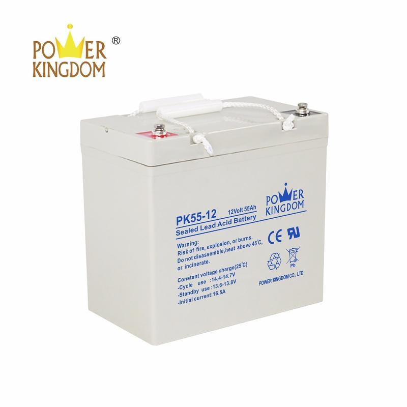 solar streetlight project power storage 12v 55amp maintenance free battery for street lamp inverter