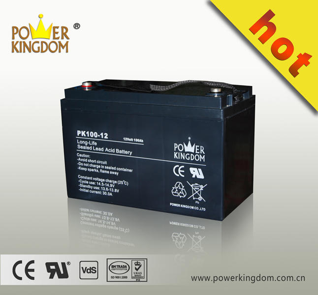 Free maintenance 12 V 100ah solar street light battery