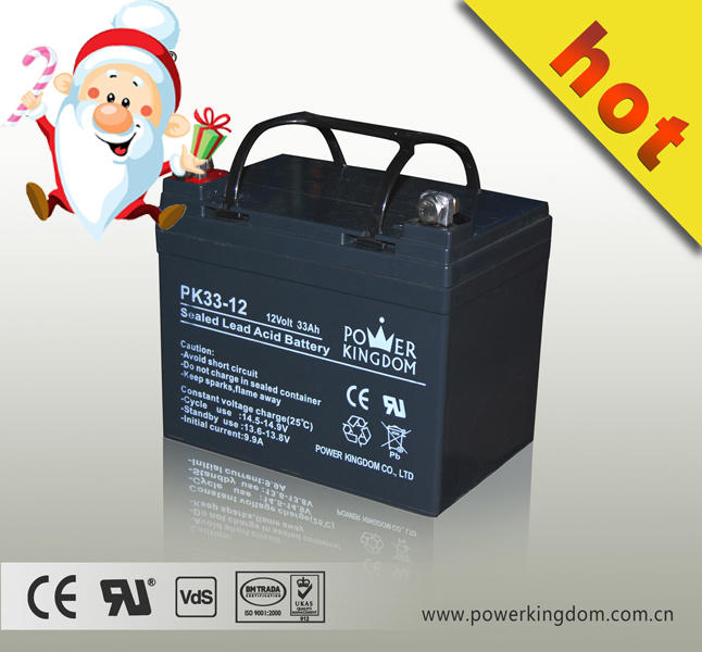 Popular battery 12v 33ah vrla battery 12v 33ah with small charger