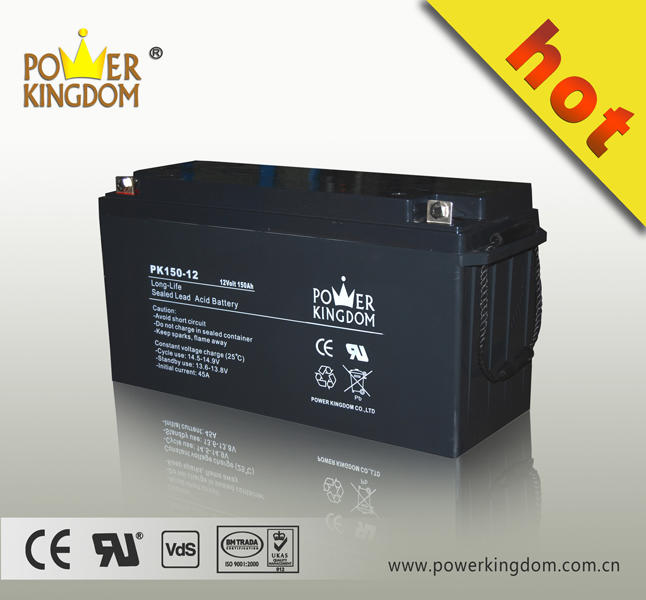 Super power storage battery 12v 150ah battery lead acid for online ups/ backup UPS