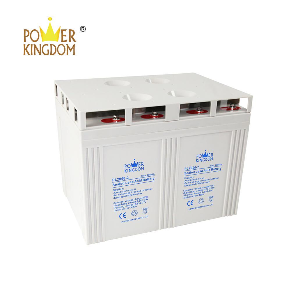2v 2000ah VRLA battery for telecom solar power system