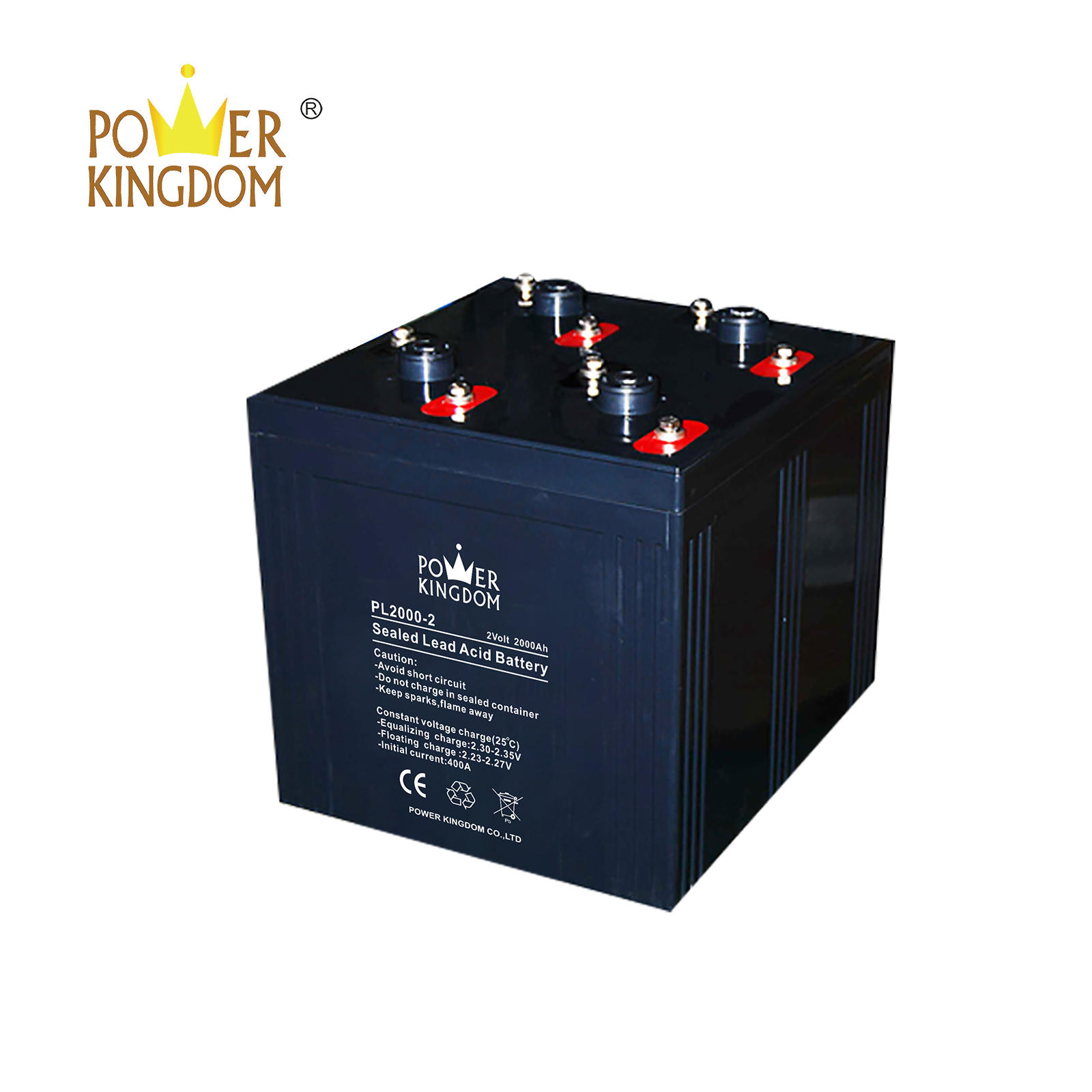 2v 2000ah VRLA battery for telecom solar power system