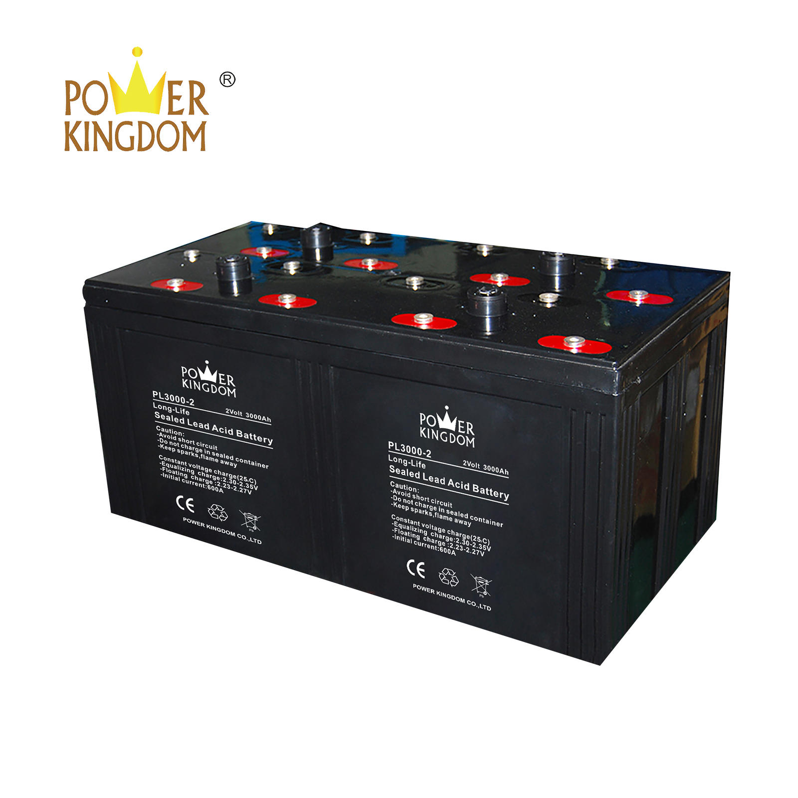 2v 3000ah sealed lead acid battery