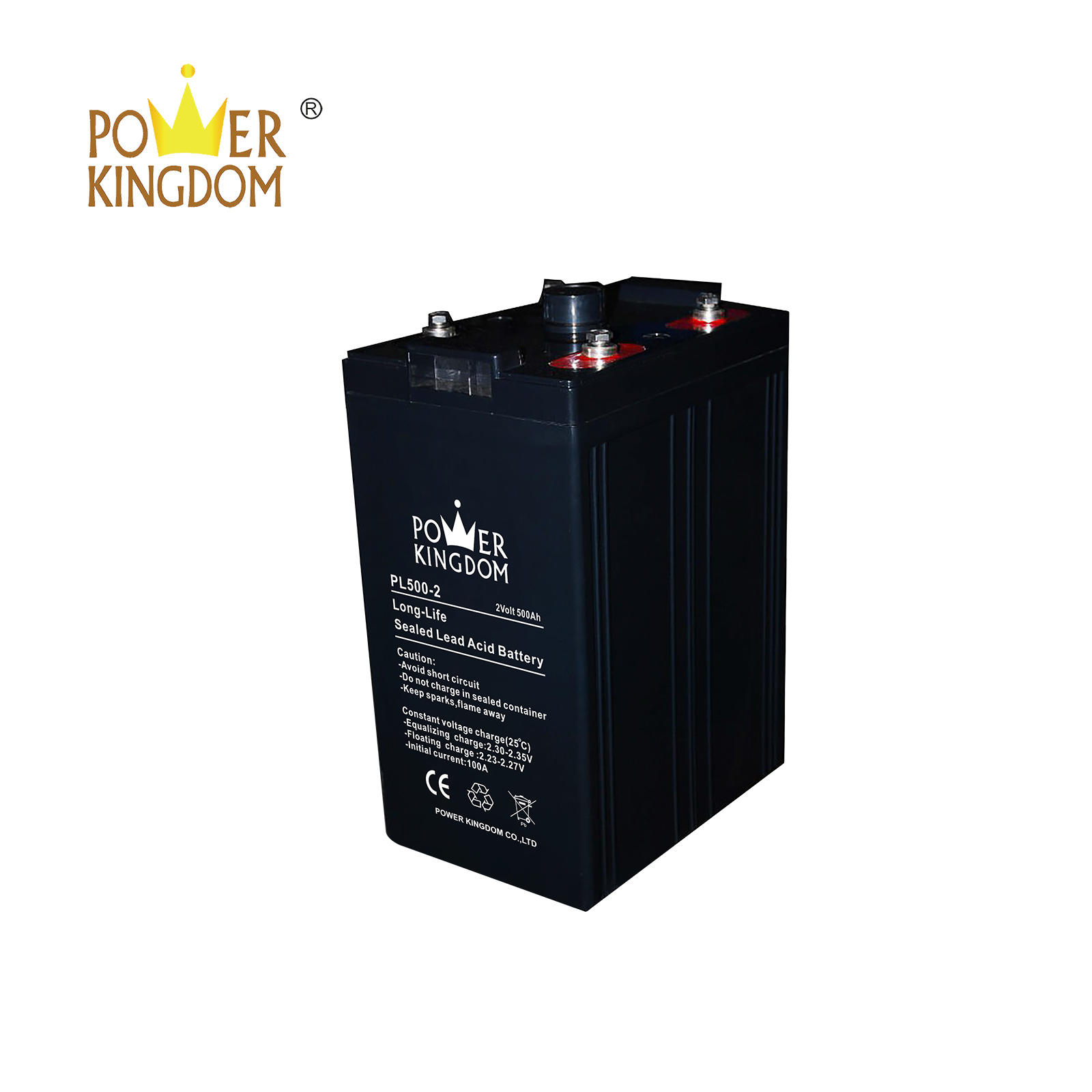 Power Kingdom 2v 500ah sealed lead acid battery with long life