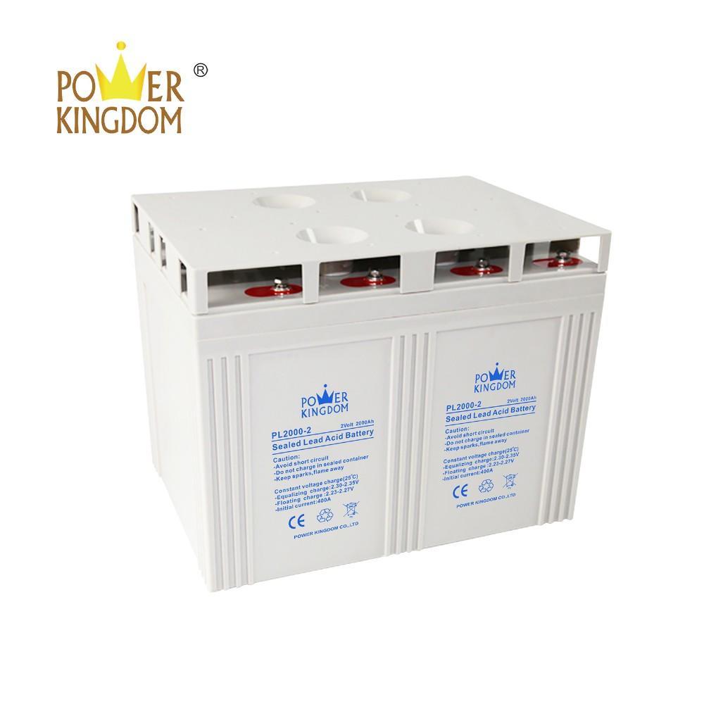 2v 2000ah VRLA SLA battery for telecom railway solar power storage inverter system