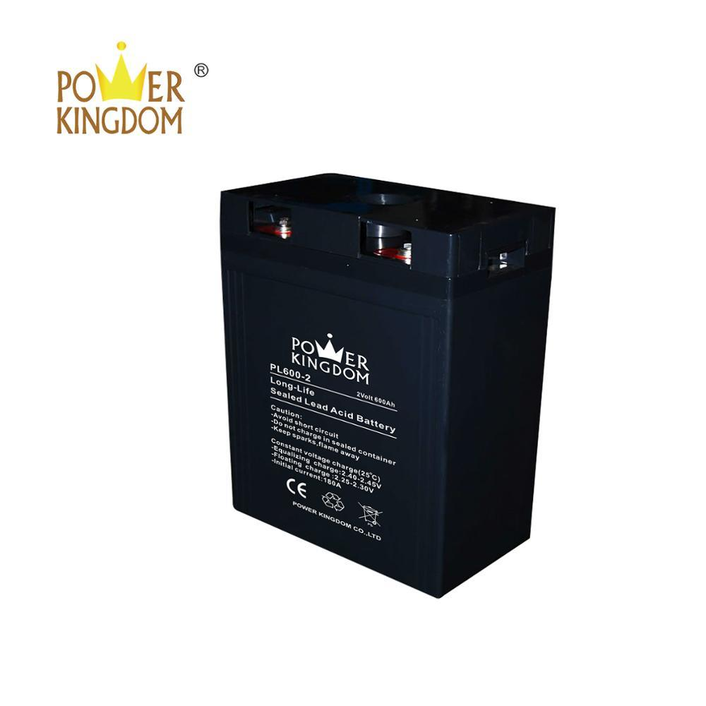 Factory Wholesale 2V 600AH industrial accumulators solar battery