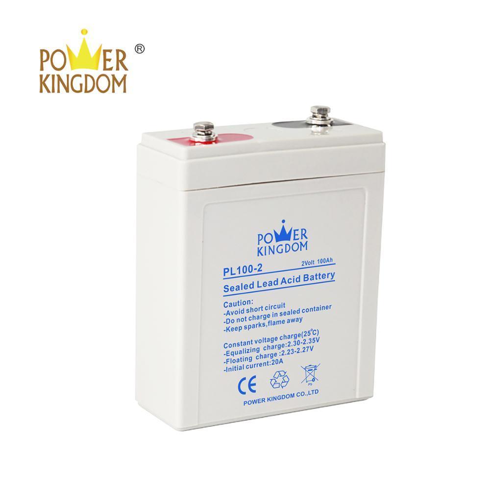 shenzhen powerkingdom 100ah solarbattery2v from 61 years factory