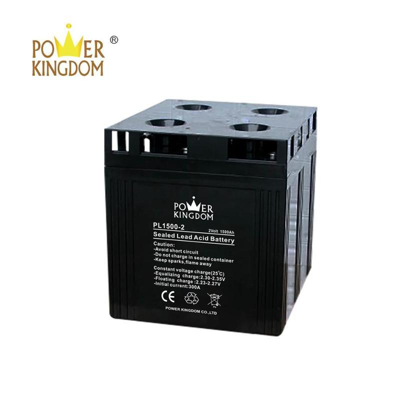Powerkingdom rechargeable agm battery 2v 1500ah inverter batteries