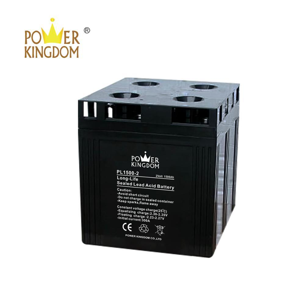 3 years warranty low discharge maintenance free gel battery 2 v 1500 Ah with CE