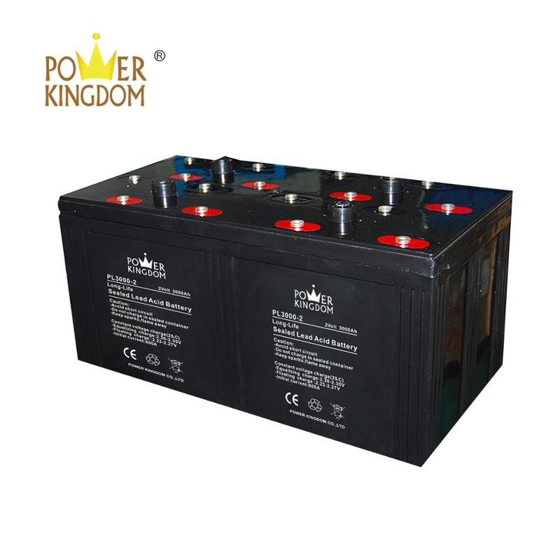 3 years warranty low discharge maintenance free gel battery 2 v 3000 Ah with CE certification