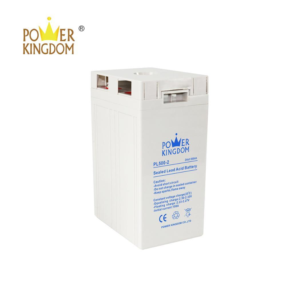 Power Kingdom telecom battery solar battery 2v 500ah