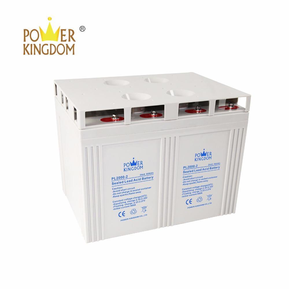 Big solar battery 2V 2000AH High Performance Sealed Lead Acid Battery for Solar and Wind