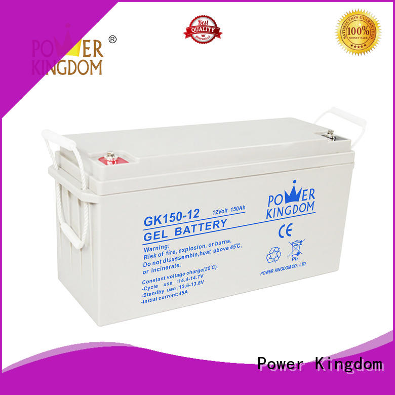 Power Kingdom higher specific energy 12v lead acid battery design solor system