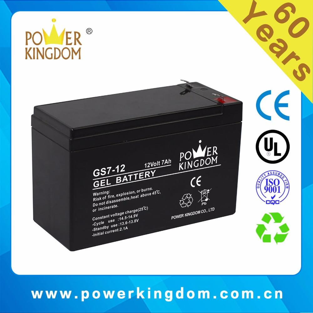 12V7.2AH Gel Solar Rechargeable Battery