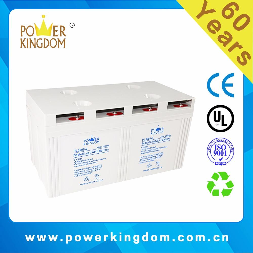 2v 3000ah Rechargeable Lead Aicd AGM Type VRLA Battery for Solar Street Light