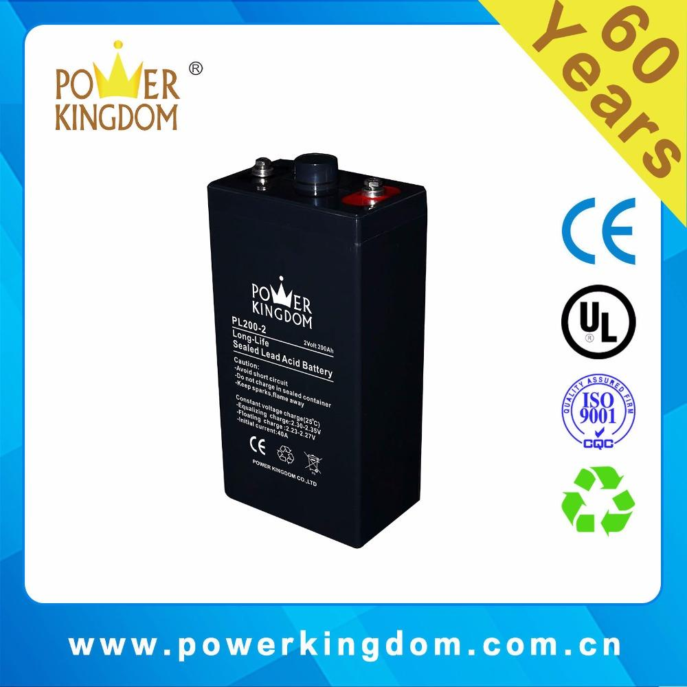 Deep cycle performance OPZV solar battery 2v 200ah for ups solar system long life