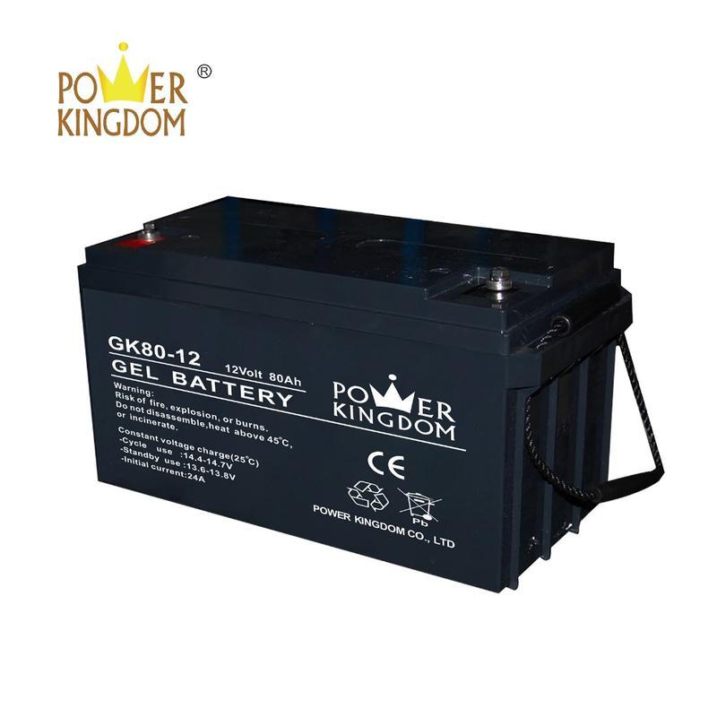 12V 80AH agm gel VALR lead acid battery with high purity lead 99.997% for solar power 10hr