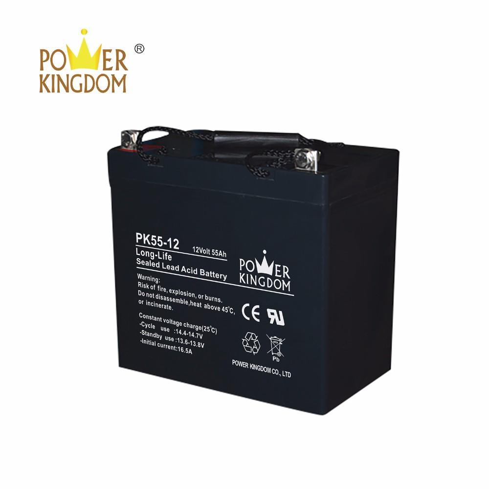 high quality deep cycle agm VALR battery 12v 55ah UPS usage 10hr