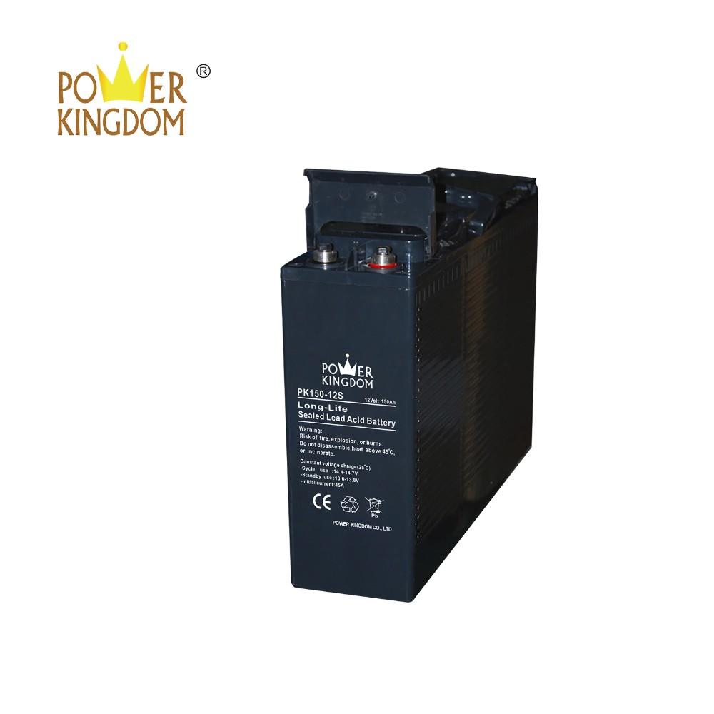 3 years warranty 12v 150ah front terminal agm sla battery for solar system ups telecom
