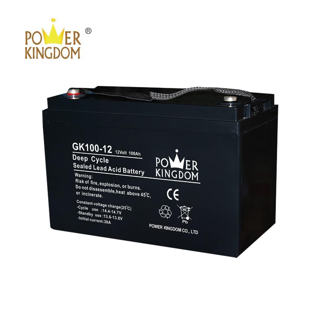 Powerkingdom deep cycle gel rechargeable solar street light batteries 12v 100ah