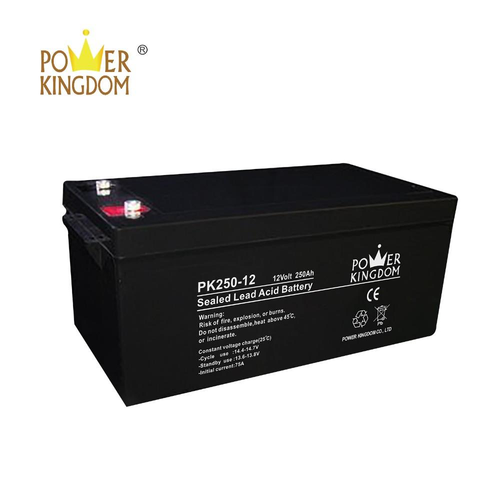 12V 250AH AGM GEL Deep Cycle Sealed Lead Acid battery for UPS Solar system with two years warranty