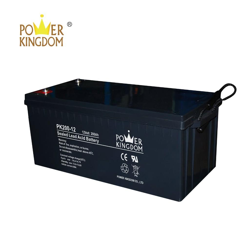 High performance 12V 200AH deep cycle gel sealed lead acid battery for solar system solar street light UPS wheel chair
