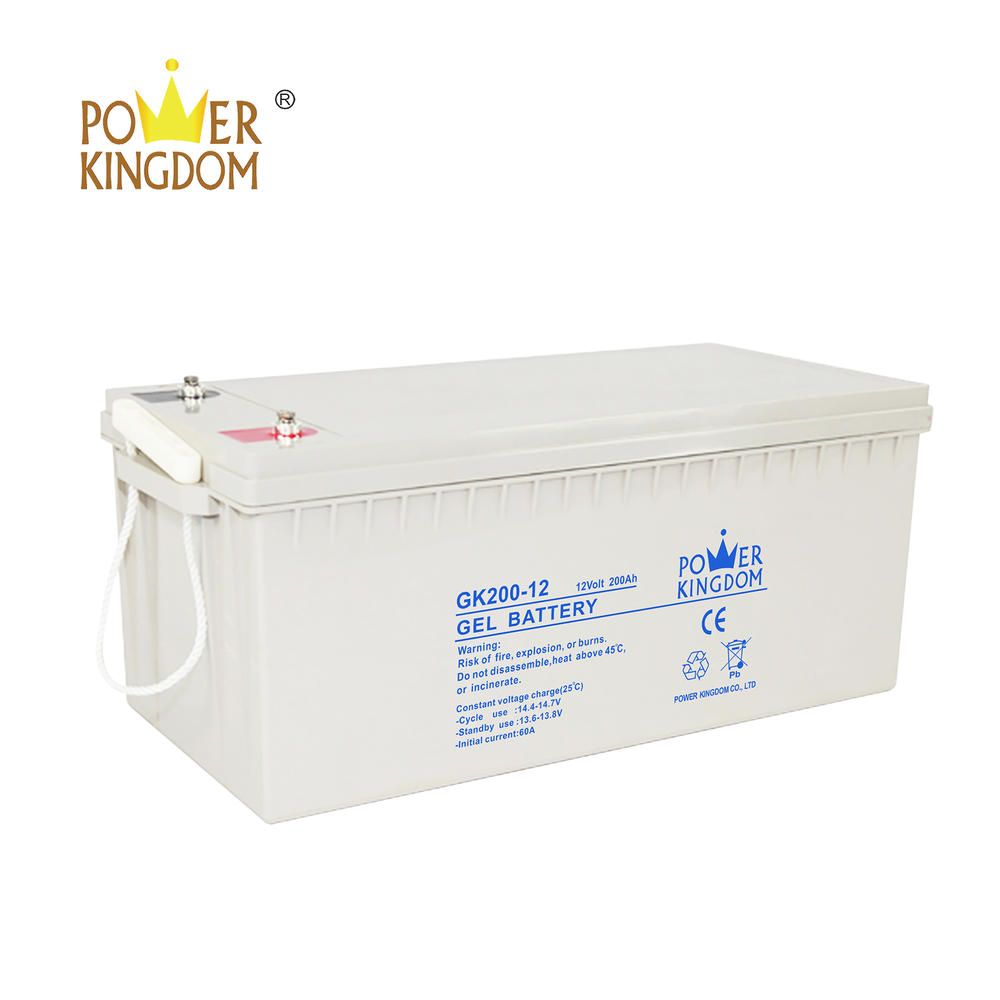 Maintenance free 12V solar deep cycle gel battery 200ah two years warranty