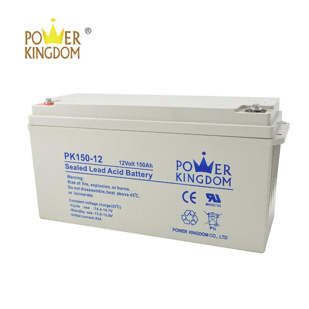 pure lead deep cycle solar battery 12V 150AH Rechargeable
