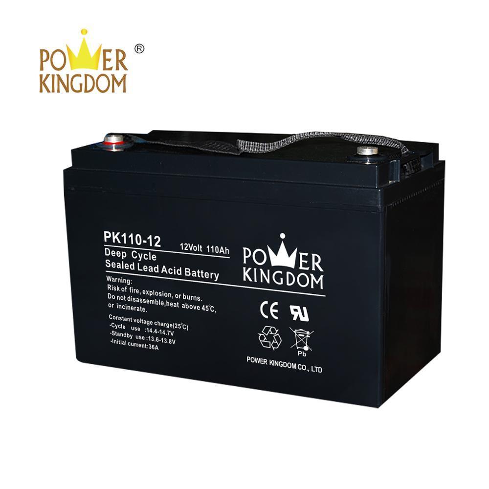CE certificates Solar battery 12V 110AH MF AGM 10hr baterias for UPS