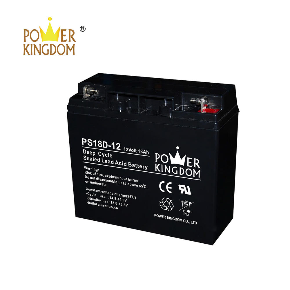 Factory supply AGM 12v 18ah VRLA deep cycle rechargeable maintenance free solar ups battery