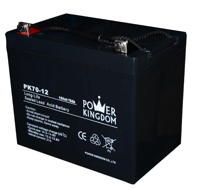 pure lead deep cycle rechargeable GEL lead acid battery 12V 70AH for UPS solar system wheel chair lighting two years warranty