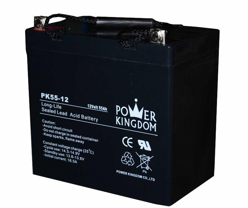 deep cycle AGM maintenance free Gel VRLA battery 12V 55AH