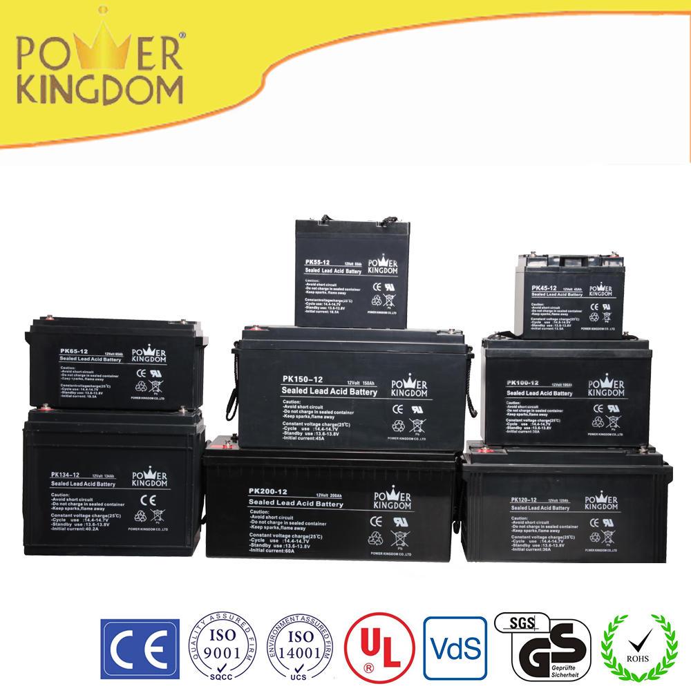 Free maintenance sealed lead acid deep cycle battery 12 batteries