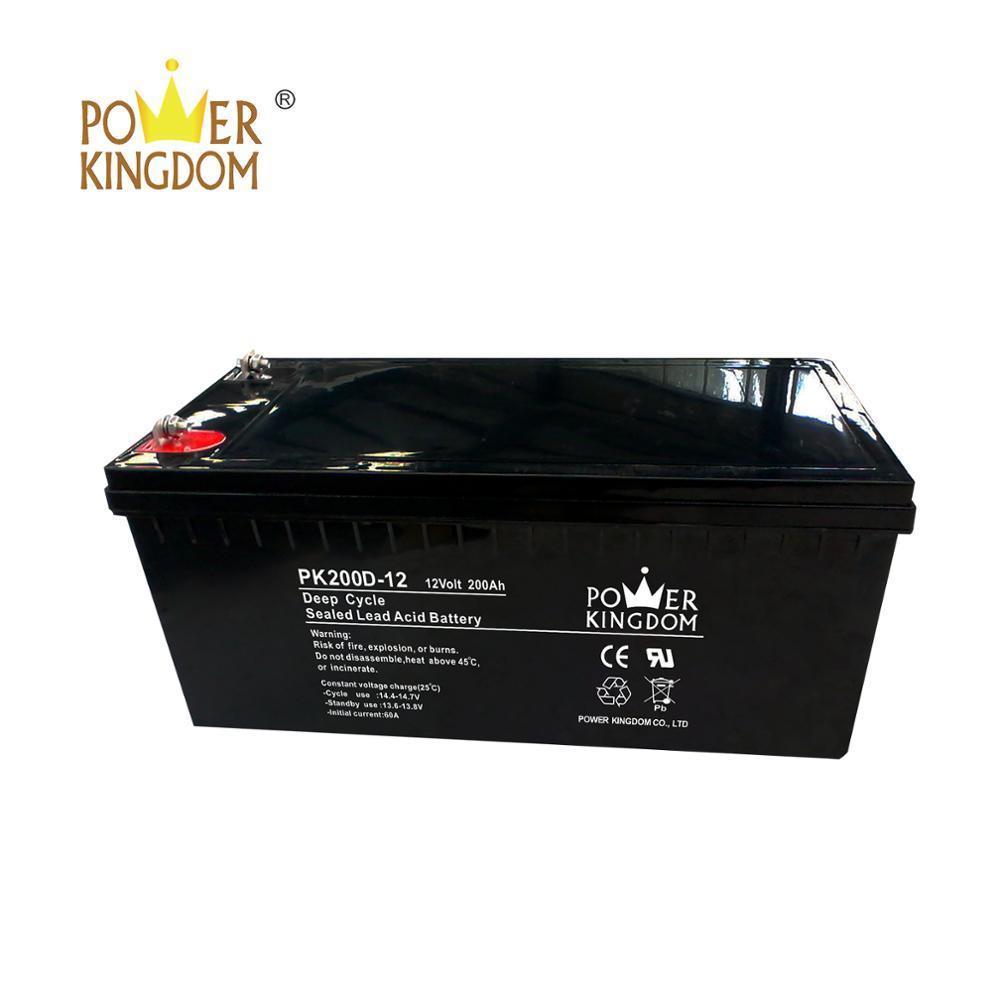 deep cycle battery wholesale 12V 200Ah solar wind street light power storage battery
