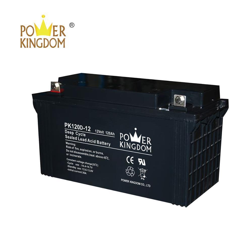 deep cycle 12v120Ah SLA battery rechargeable for solar panel led streetlight