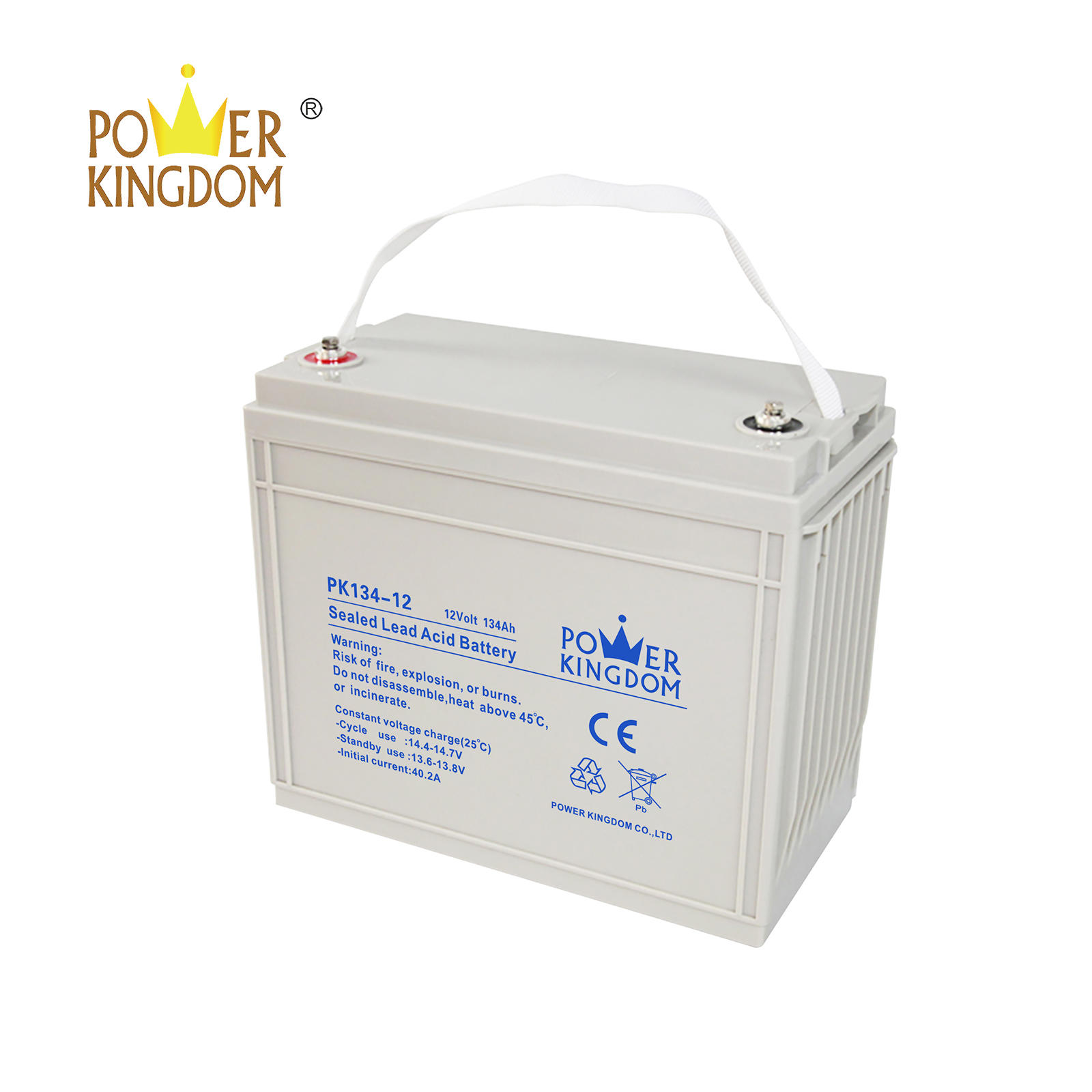 Power kingdom 12v lead acid UPS storage lead acid battery