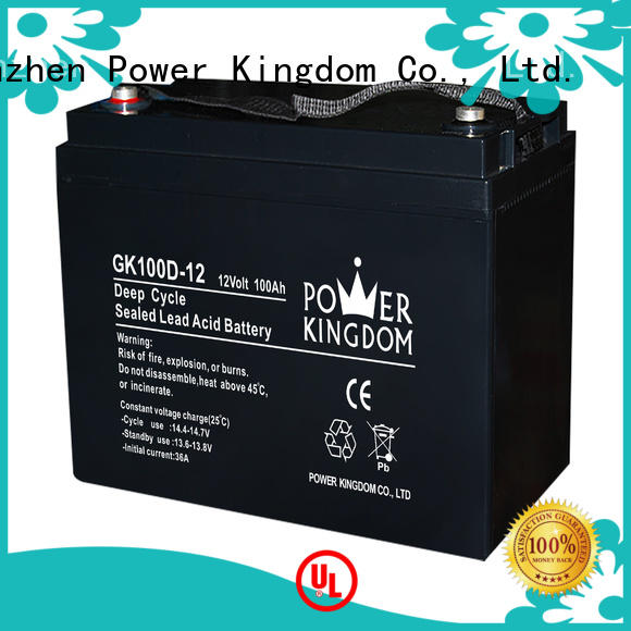 Power Kingdom 12v lead acid battery design medical equipment