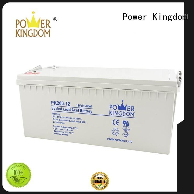 Power Kingdom 12v lead acid battery design medical equipment