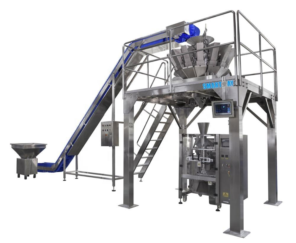 Reasonable price vertical packing machinefor lettuce with multihead weigher