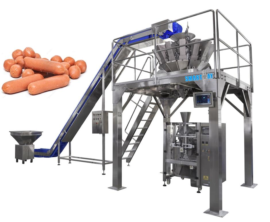 Factory sales automatic vertical sausage packing machine with multihead